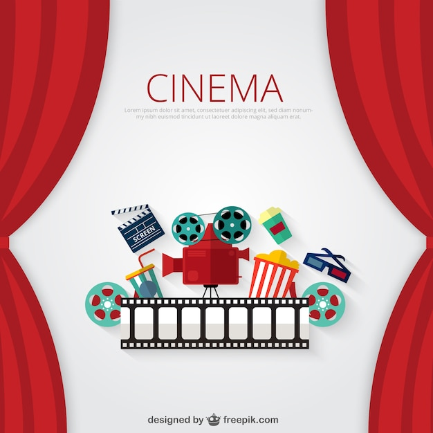 Fundo do cinema Vetor grátis