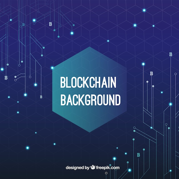 Fundo do conceito blockchain Vetor grátis