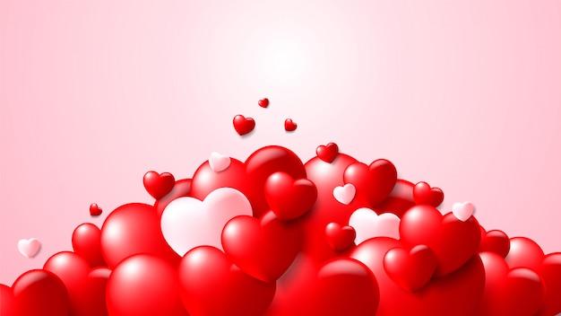 Fundo do conceito de dia dos namorados. ilustração vetorial Vetor Premium