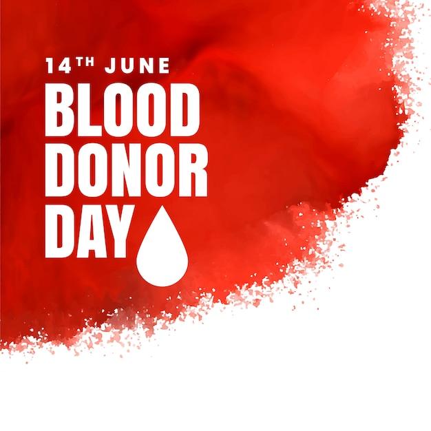 Fundo do conceito de dia vermelho doador Vetor grátis