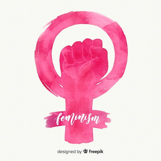 Fundo do conceito de feminismo Vetor grátis
