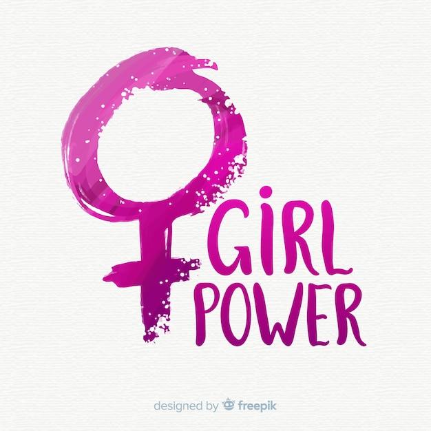 Fundo do conceito de feminismo Vetor Premium