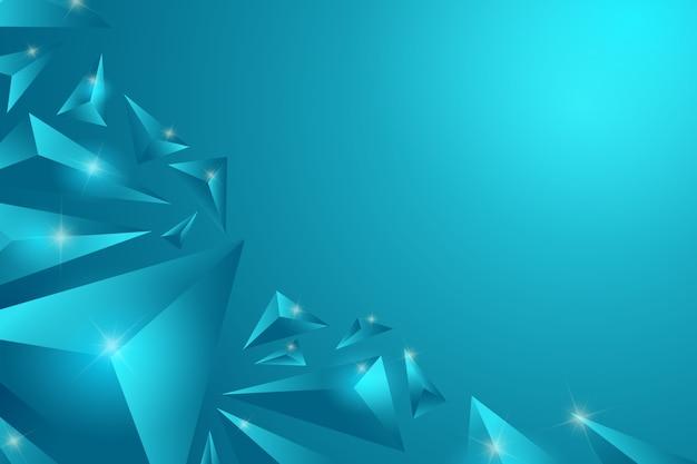 Fundo do conceito de triângulo turquesa 3d Vetor Premium