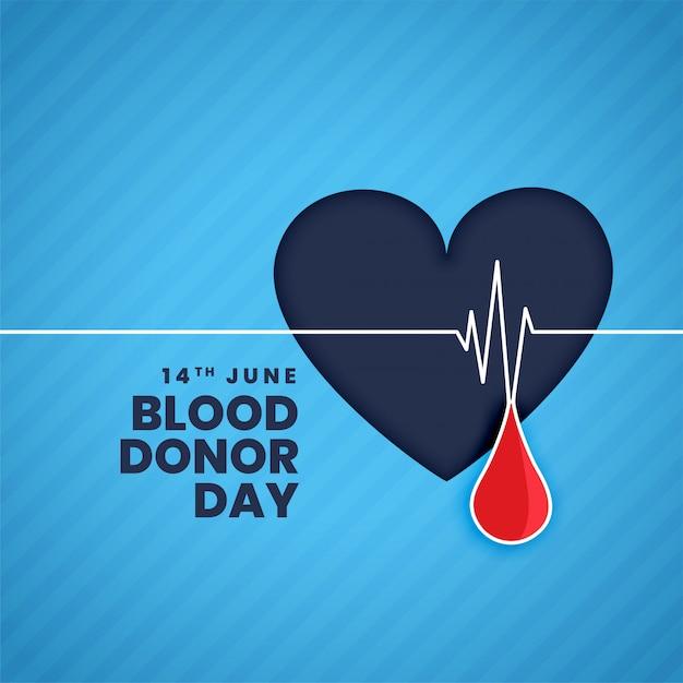 Fundo do conceito do dia do doador de sangue de junho Vetor grátis