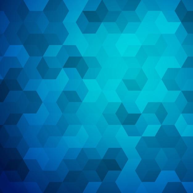 Fundo do cubo abstrato azul Vetor Premium
