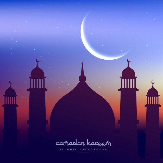 Fundo do cumprimento ramadan kareem Vetor grátis