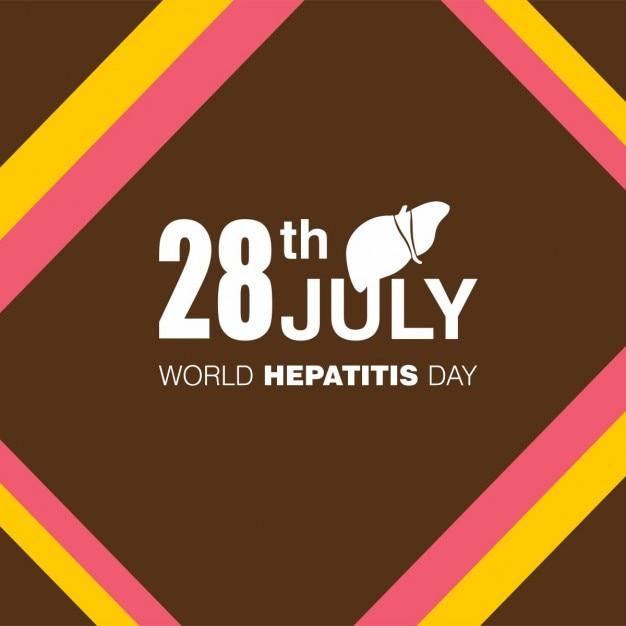 Fundo do dia 28 de julho mundial da hepatite Vetor grátis
