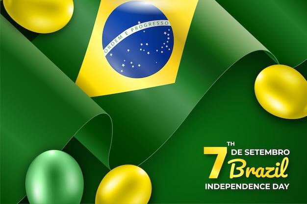 Fundo do dia da independência do brasil Vetor grátis