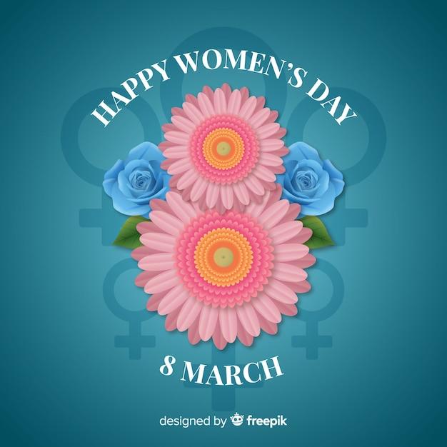 Fundo do dia da mulher Vetor grátis
