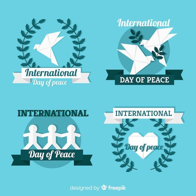 Fundo do dia da paz Vetor grátis