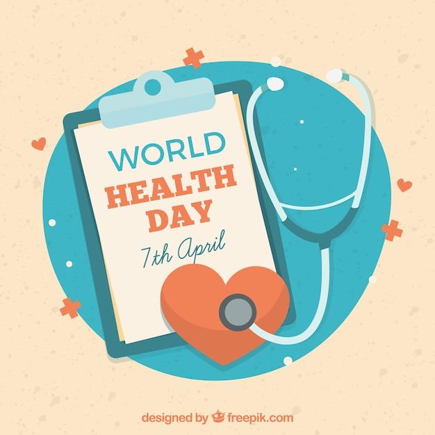 Fundo do dia da saúde mundial Vetor grátis