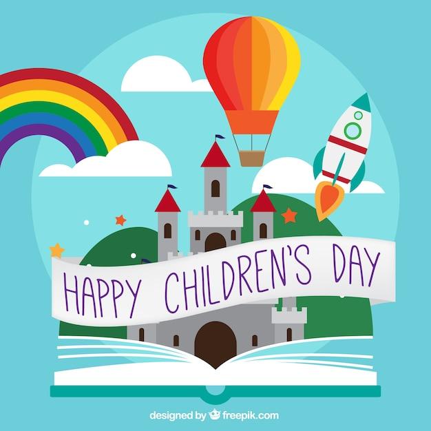 Fundo do dia das crianças com elementos de contos | Baixar ...