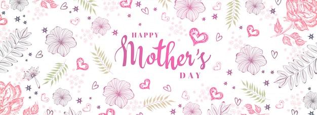 Fundo do dia das mães. Vetor Premium