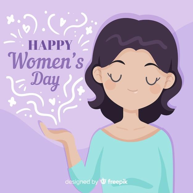 Fundo do dia das mulheres Vetor grátis