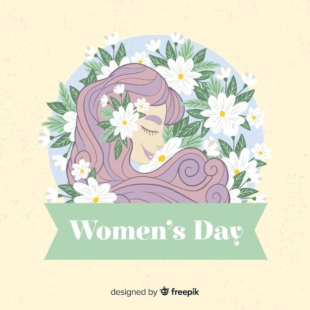 Fundo do dia das mulheres. Vetor grátis