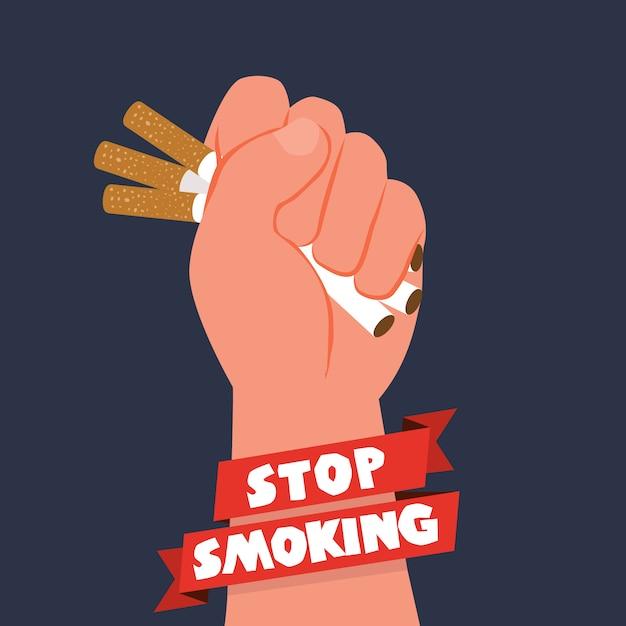 Fundo do dia do tabaco anti Vetor grátis