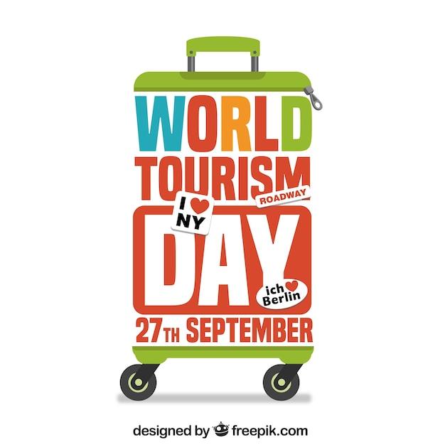 Fundo do dia do turismo mundial Vetor grátis