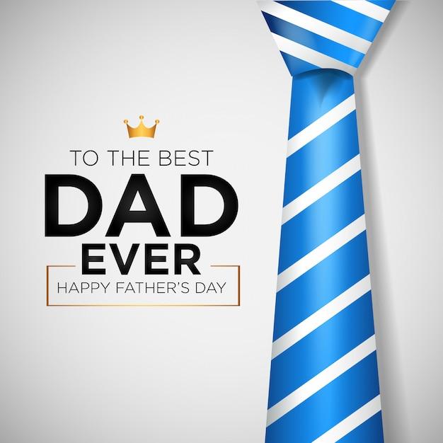 Fundo do dia dos pais feliz com gravata Vetor Premium