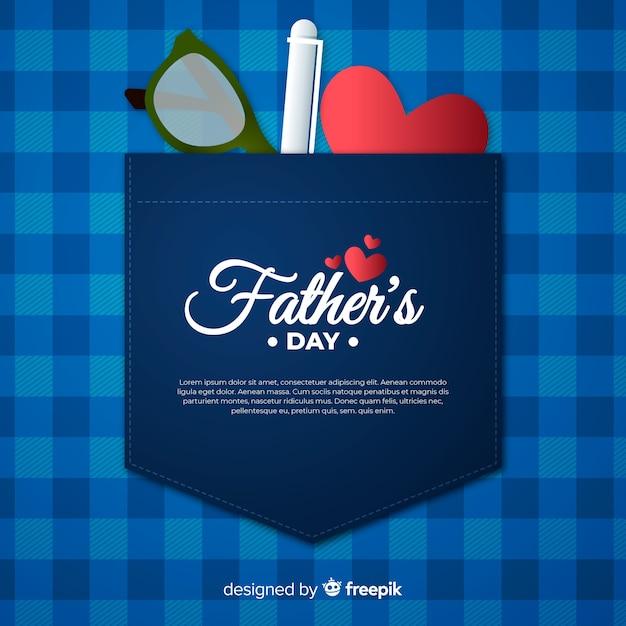 Fundo do dia dos pais Vetor grátis