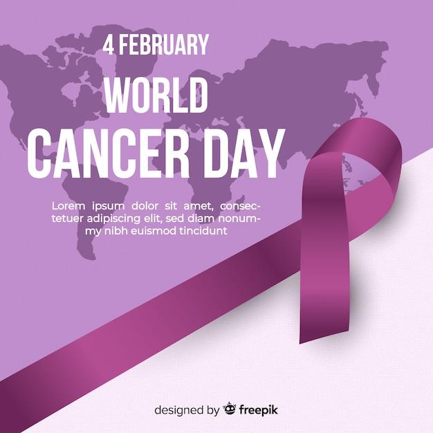 Fundo do dia mundial do câncer realista Vetor grátis