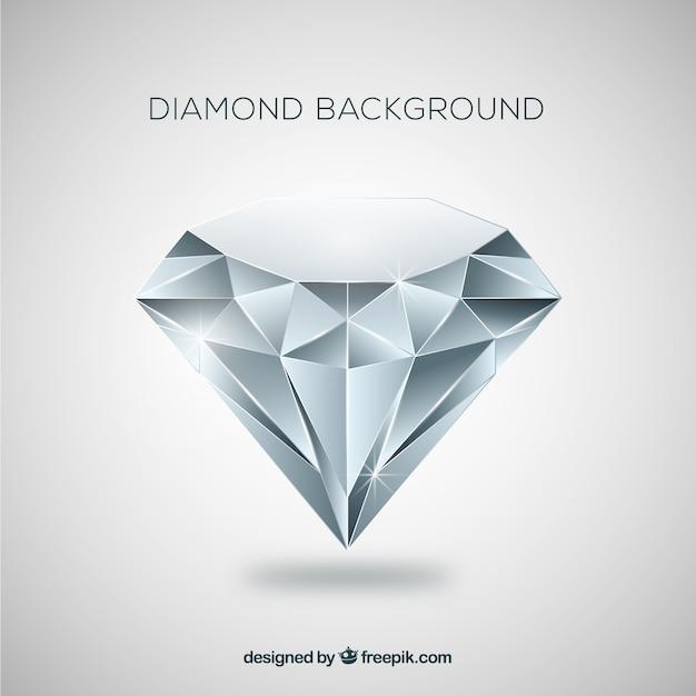 Fundo do diamante no design plano Vetor grátis