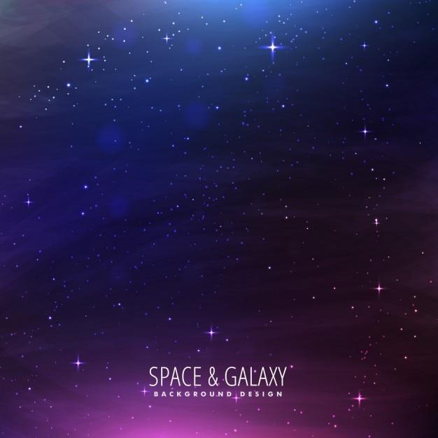 Fundo do espaço galáxia Vetor grátis