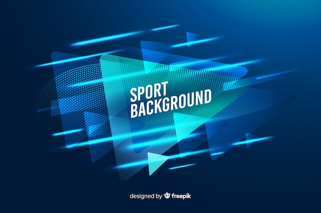 Fundo do esporte com formas abstratas Vetor grátis