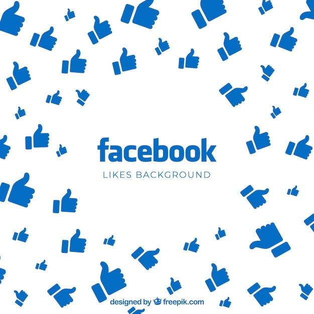 Fundo do facebook com gostos Vetor grátis
