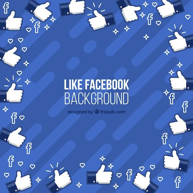 Fundo do facebook com ícones semelhantes Vetor grátis