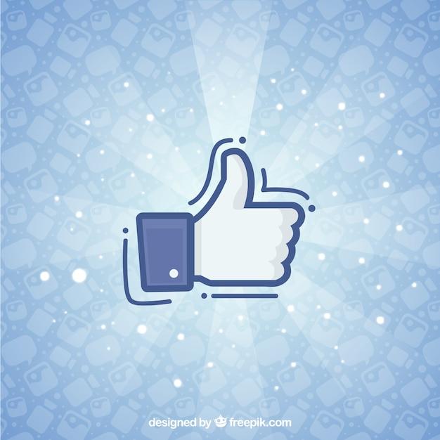 Fundo do facebook com o ícone como Vetor grátis