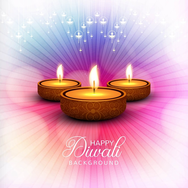 Fundo do festival de diwali feliz brilhante elegante Vetor grátis