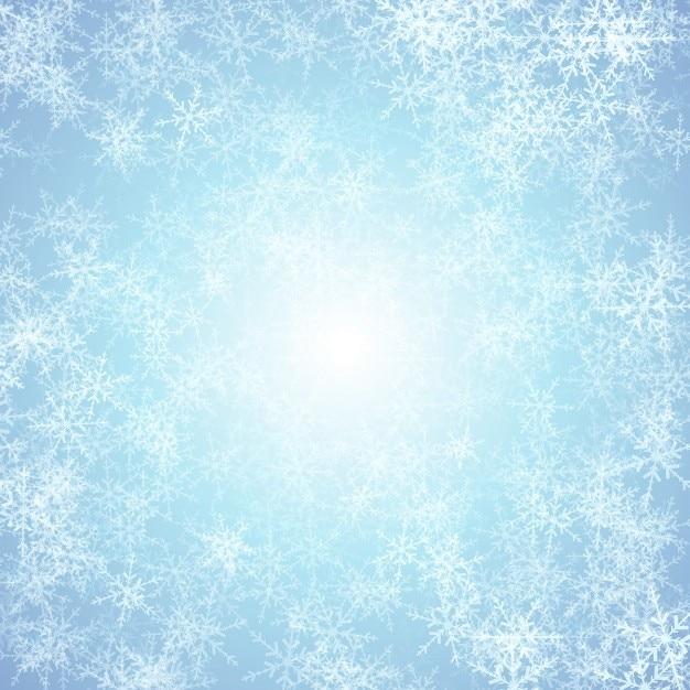Fundo do floco de natal com efeito de gelo Vetor grátis