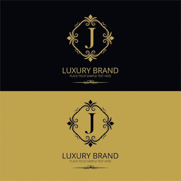 Fundo do logotipo da marca de luxo Vetor grátis