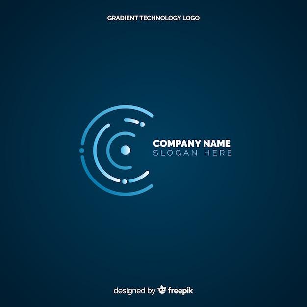 Fundo do logotipo de tecnologia Vetor grátis