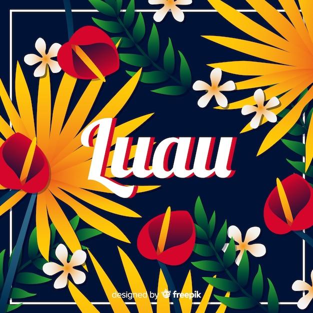 Fundo do luau havaiano Vetor grátis