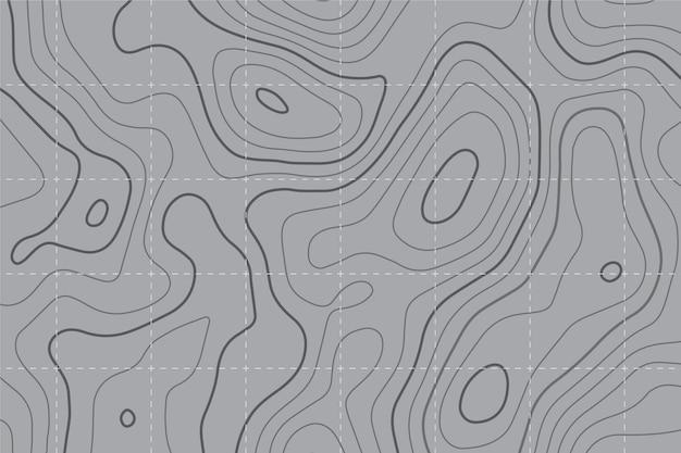 Fundo do mapa topográfico Vetor Premium