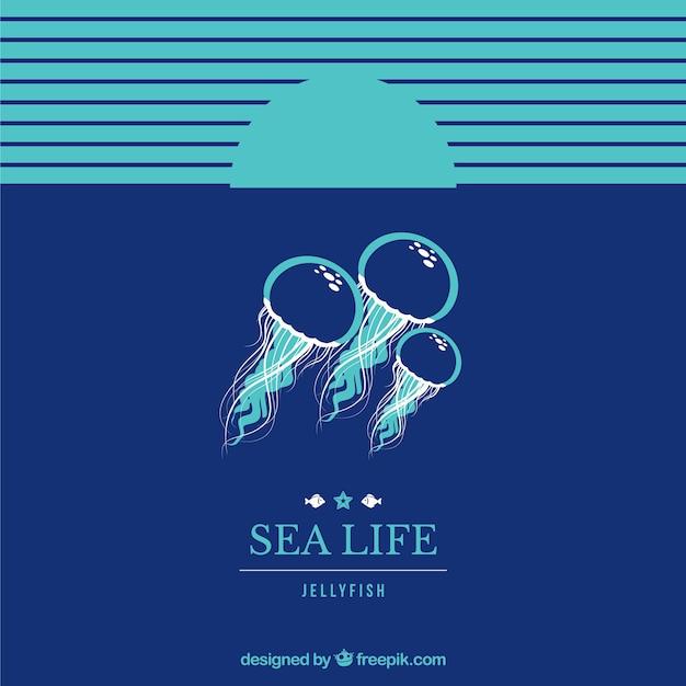 Fundo do mar vida Vetor grátis
