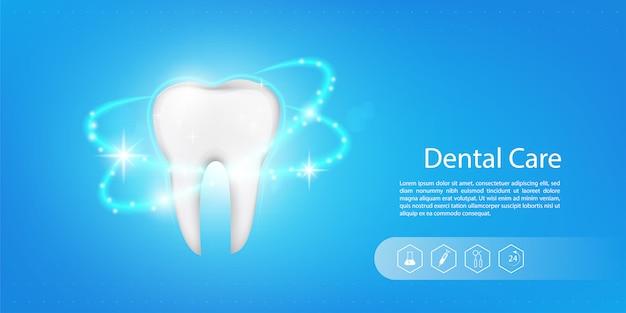 Fundo do modelo dental Vetor Premium