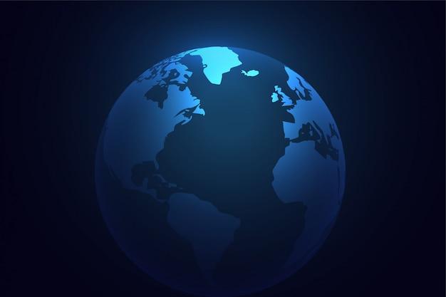 Fundo do mundo do planeta terra azul Vetor grátis