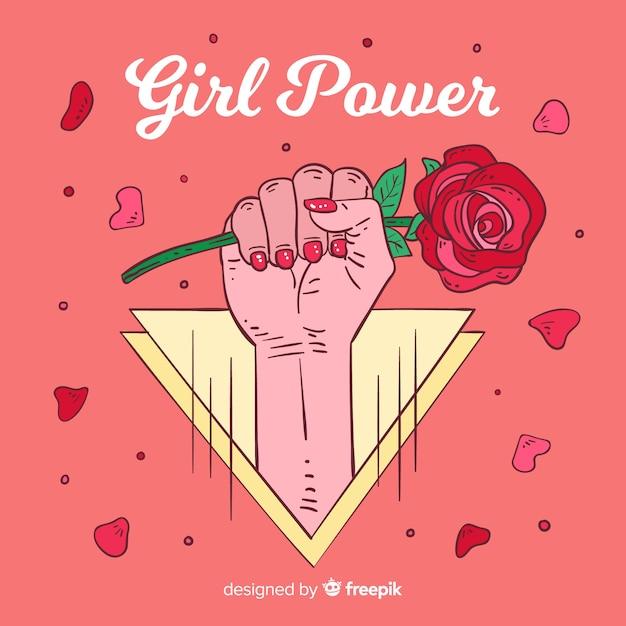 Fundo do poder da menina Vetor grátis