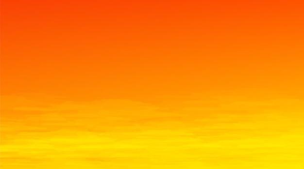 Fundo do pôr do sol ou do nascer do sol, design de conceito de quadrinhos Vetor Premium