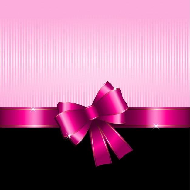 Fundo do presente com rosa ideal da fita para Dia dos ...