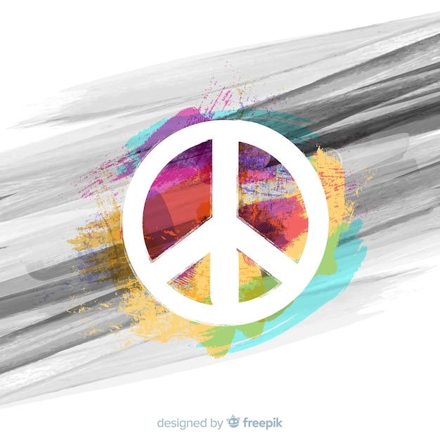 Fundo do sinal de paz Vetor grátis