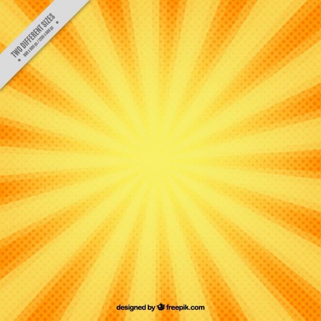 Fundo do sunburst do vintage no estilo comic Vetor Premium