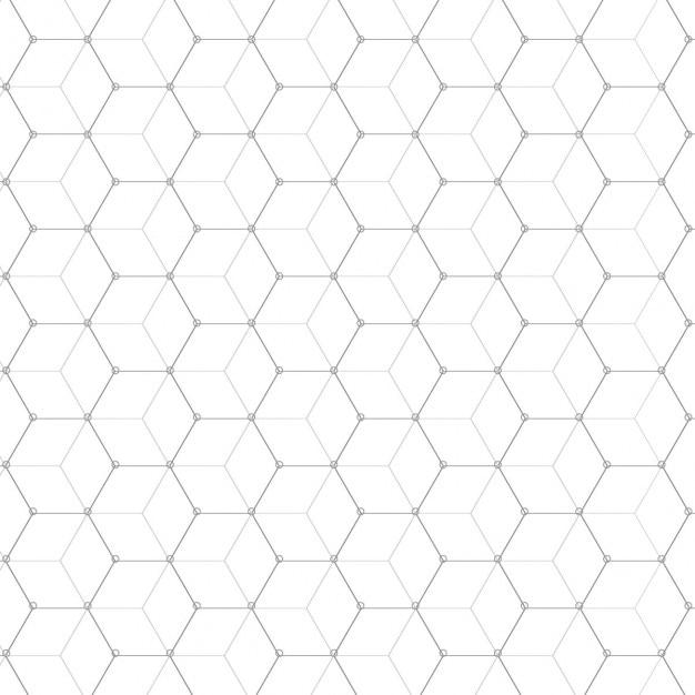 Fundo do teste padrão do cubo Vetor grátis