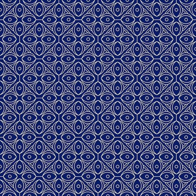 Fundo do teste padrão sem emenda do batik geométrico. Vetor Premium