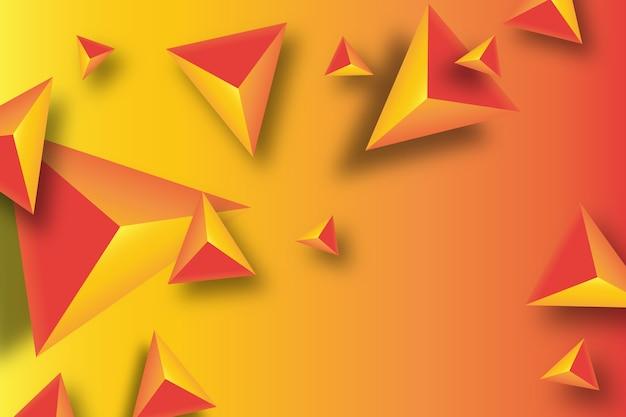 Fundo do triângulo 3d com cores vivas Vetor grátis