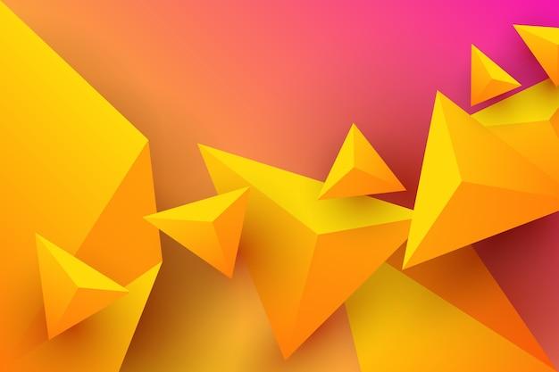 Fundo do triângulo com cores vibrantes Vetor grátis