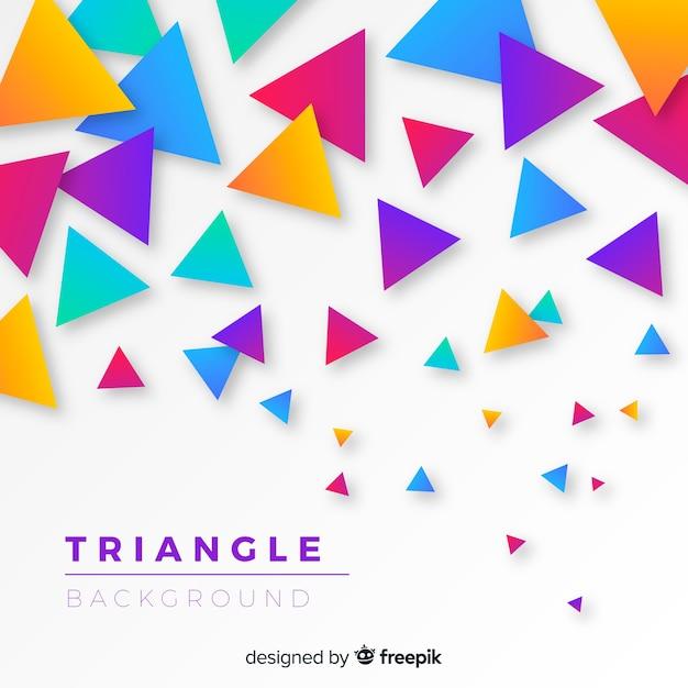 Fundo do triângulo Vetor grátis