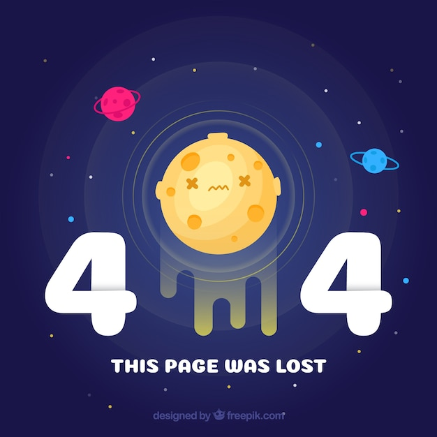 Fundo do universo de erro 404 Vetor grátis